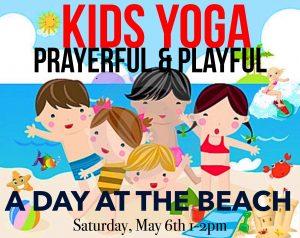 kids yoga beach