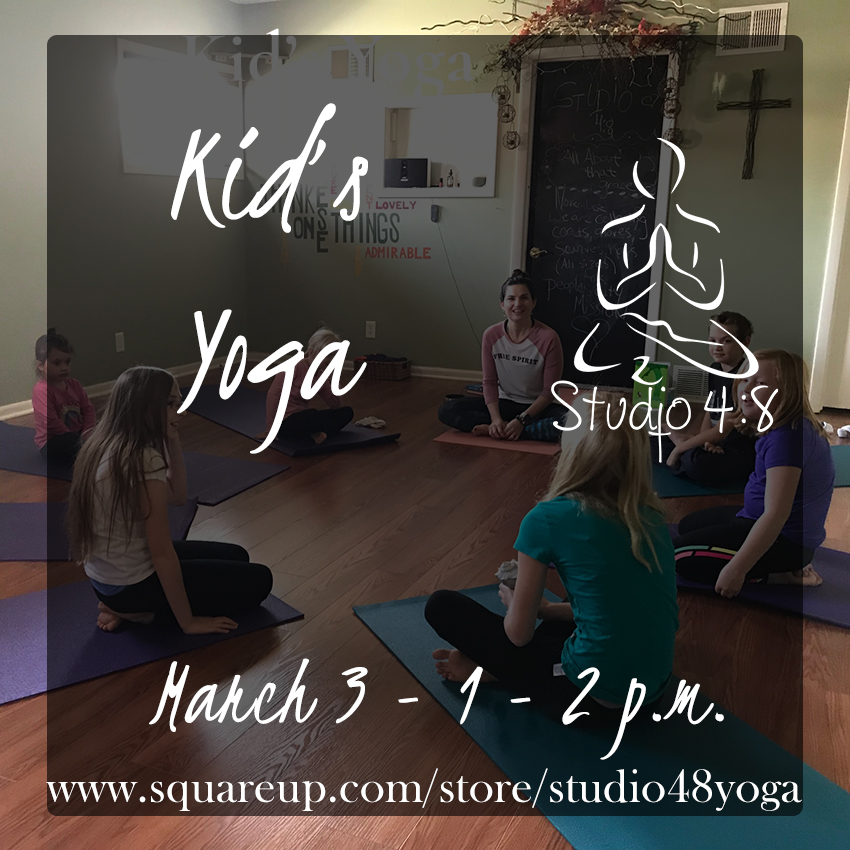 Kid's Yoga March 3rd